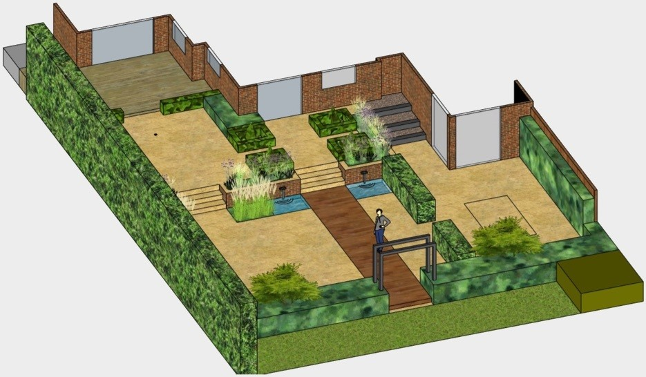 Overhead plan for a garden design project by Greatest Scapes.
